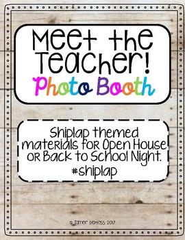 Meet the Teacher Photo Booth (Shiplap themed)