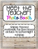 Meet the Teacher Photo Booth (Shiplap themed)