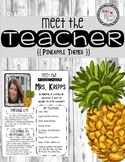 Meet the Teacher (Pineapple Themed) Editable