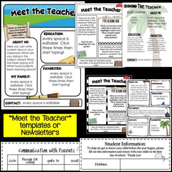 Meet the Teacher ~ Pirate Themed- Editable