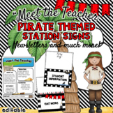 Meet the Teacher - Pirate Themed- Editable