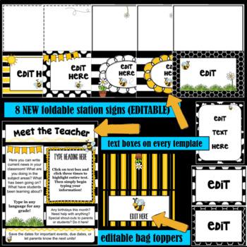 Bee Theme- Editable Meet the Teacher