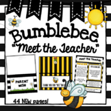 Station Signs Bee Theme- Newsletter and Meet the Teacher Templates- Editable