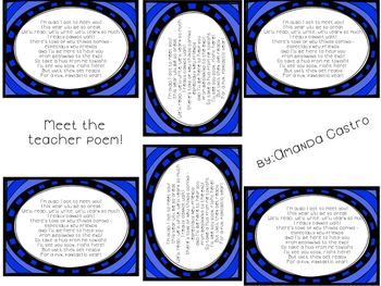 Meet the Teacher Poem