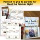 Meet the Teacher Pop Up - Editable