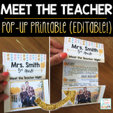 Meet the Teacher Pop Up - Editable