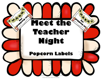 Meet the Teacher Popcorn Labels