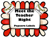 Meet the Teacher Popcorn Labels