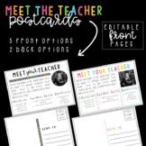 Meet the Teacher Postcards   Editable