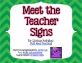 {CHEVRON} Meet the Teacher Posters- Efficient, streamlined