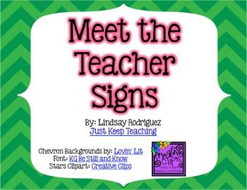 {CHEVRON} Meet the Teacher Posters- Efficient, streamlined