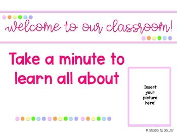 Editable Meet the Teacher PowerPoint
