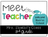 Meet the Teacher PowerPoint (Open House)