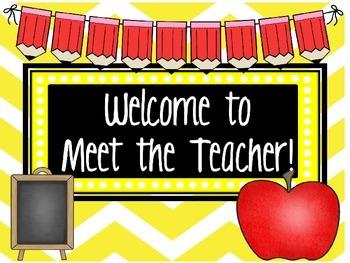 Meet the Teacher Powerpoint- Editable
