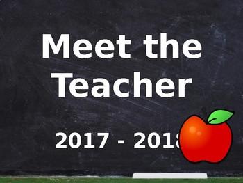 Meet the Teacher Powerpoint - Editable