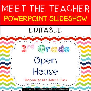 Meet the Teacher Powerpoint Slideshow {Editable}