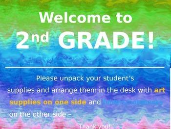Meet the Teacher Powerpoint Slideshow Presentation - Blues