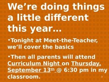 Meet the Teacher Powerpoint Slideshow Presentation - Blues - Editable