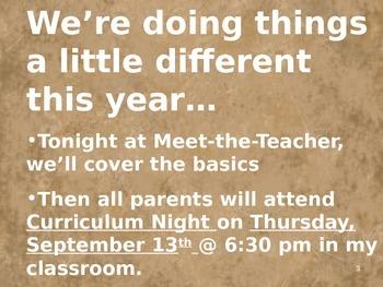 Meet the Teacher Powerpoint Slideshow Presentation - Brown - Editable