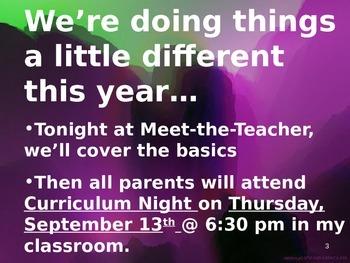 Meet the Teacher Powerpoint Slideshow Presentation - Editable