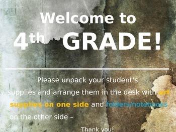 Meet the Teacher Powerpoint Slideshow Presentation - Grays & Tans  - Editable