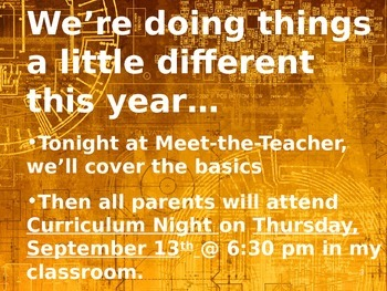 Meet the Teacher Powerpoint Slideshow Presentation - Orange Grunge - Editable
