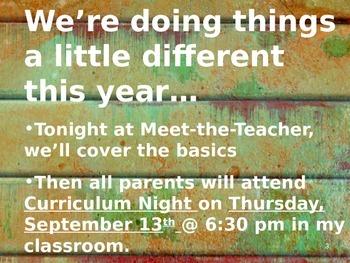 Meet the Teacher Powerpoint Slideshow Presentation - Rusted Metal 2 - Editable