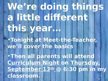 Meet the Teacher Powerpoint Slideshow Presentation - Wooden - Editable