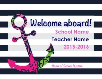 Meet the Teacher Presentation /Who's the Teach PPT 17pgs O