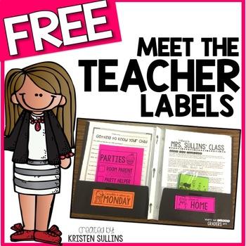 Meet the Teacher Freebie