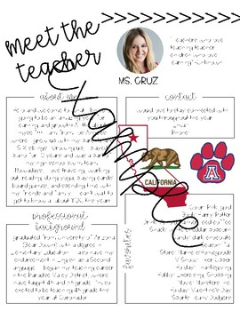 Meet the Teacher Printable