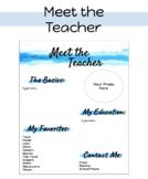 Meet the Teacher: Printable/Distant Learning