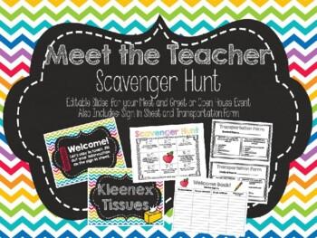 Meet the Teacher Scavenger Hunt