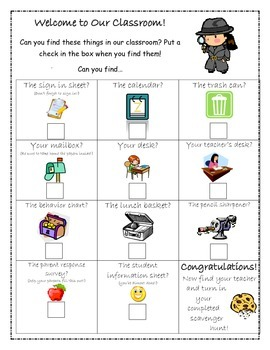 Meet the Teacher Scavenger Hunt