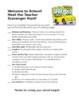 Meet the Teacher Scavenger Hunt Activity