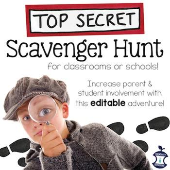 Meet the Teacher Scavenger Hunt EDITABLE (for Open House,