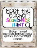 Meet the Teacher Scavenger Hunt (Shiplap themed)