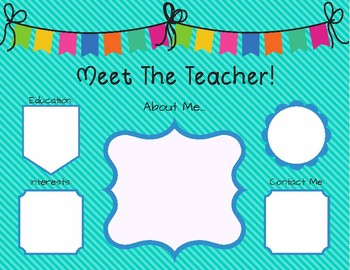 Meet the Teacher Sign