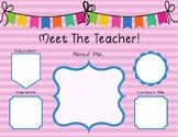 Meet the Teacher Sign