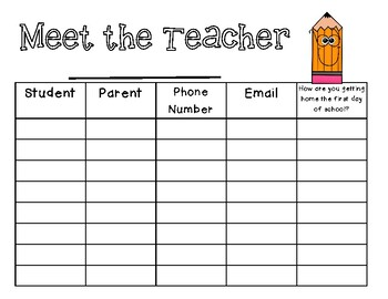 Meet the Teacher Sign In