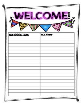 Meet the Teacher Sign-In Sheet