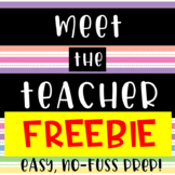 Meet the Teacher // Sign-In Sheet // Welcome Sign // freebie