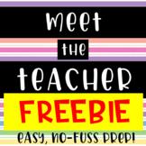Meet the Teacher // Sign-In Sheet // Welcome Sign // freebie