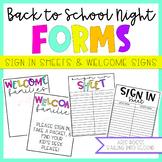 Meet the Teacher Sign in Sheet | Meet the Teacher Welcome Sign