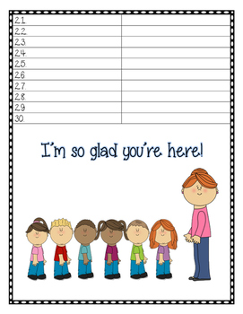 Meet the Teacher: Sign in Sheet and Contact Card