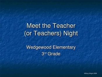 Meet the Teacher Slide Show