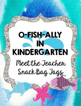 Meet the Teacher Snack Bag Tags
