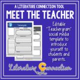 Meet the Teacher Social Media Profile Template