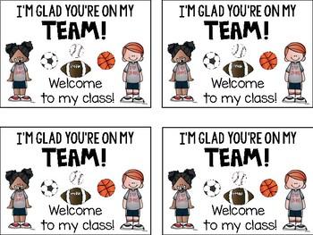 Meet the Teacher Sports Tags