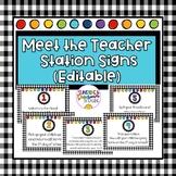Meet the Teacher Station EDITABLE Signs